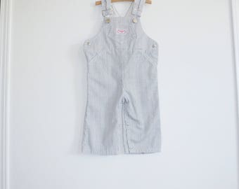 Vintage Striped Boy's Overalls