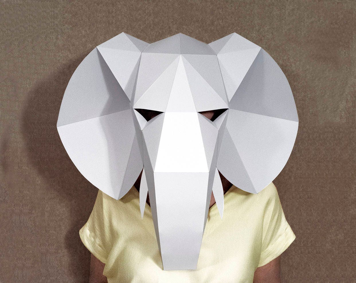 Elephant mask Printables papercraft mask masquerade mask