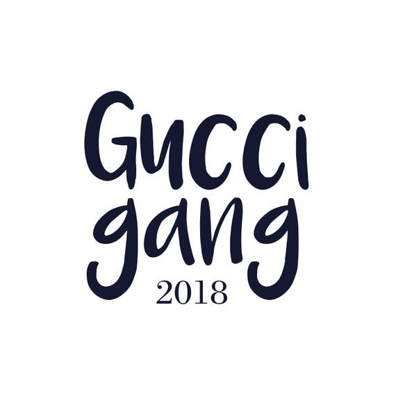 gucci gang handritten font cut file png and jpeg rh etsy com Gucci Logo Pattern gucci logo font download
