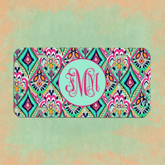 Lilly Pulitzer License Plate Frame Lilly Pulitzer Inspired