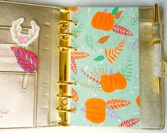 Autumn Pumpkin Personal, A5, A6, B6 & Pocket Planner Dashboards