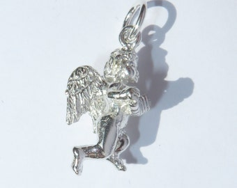 925 Genuine Silver Cherub Charm - 92.5% Sterling Necklace Weddings Christening Bride Bridesmaid New Born 21st Sweet 16 Birthday Gift love