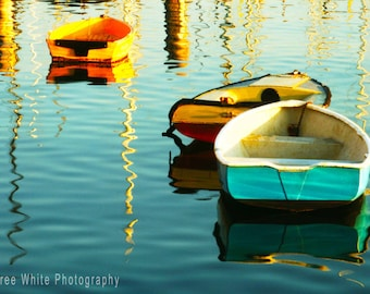 Harbour sunrise, Landscape photography, Sea, Fine Art print, Ready to frame, Boats, Water, Light