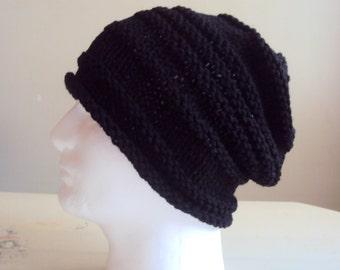 Mens Knit Slouchy Beanie Celebrity Hat Slouchy Hat Winter Hats Dreadlock Hat Rasta Hat Handmade Gift Ideas