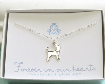 Pet Memorial Necklace • Dog Lover • Pet Loss • Sympathy Gift • In Memory of Dog • Pet Bereavement Gift • Chihuahua • Pet Remembrance