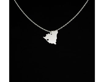 Nicaragua Necklace - Country Necklace - Nicaragua Gift - Nicaragua Jewelry