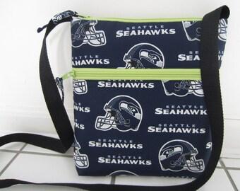 Seattle Seahawks Crossbody Bag, Hobo Bag, Hipster Bag, NFL Crossbody Bag
