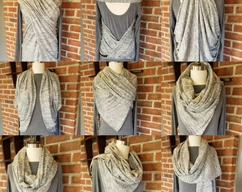 Infinity Scarf, Convertible Scarf, Scarf, Shawl, Cape, Wrap