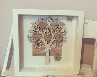 Family Tree Frame, Personalised Gift, Keepsake, Home Decor