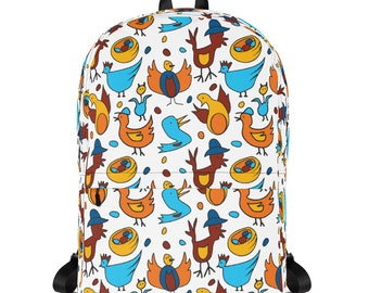 Kids Bird Backpack, School Backpack, Cute Bird Backpack, Duck Backpack, Chicken Backpack