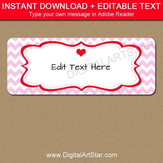 Valentines Day Return Address Labels Printable Valentine