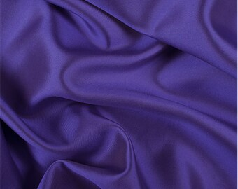 Purple/White Silk/Wool Gab, Fabric By The Yard