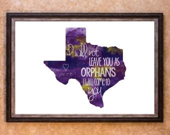 Home Decor - Adoption - Texas Graphic Art