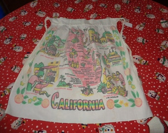 Wonderful Vintage Clothing USA California Cotton Apron