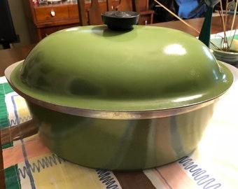 Avocado Green Club Aluminum Roasting Pan