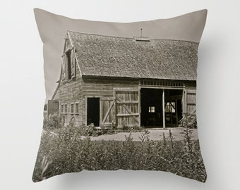Farmhouse Pillow, Country Home Decor, Barn Pillow, Rustic Decor, Farmhouse Chic, Cushion Cover, Brown, 18x18, 22x22, Housewarming Gifts
