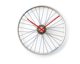 Unique Wall Clock, Husband Gift, Large Wall Clock, Oversized Wall Clock, Bicycle Wheel Clock, Unique Gift, Bike Wheel Clock, Bicycle Clock