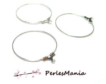PAX 20 hoop earrings hangers 20 mm silver plate