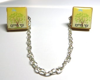 Tallit clips - choose from any of my Jewish or Hebrew Scrabble tile designs