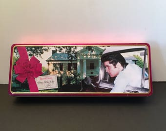 Elvis Presley Mother's Day Tin ~Russell Stover ~ Happy Mother's Day ~ 1998 ~ Collectible Can ~ Vintage