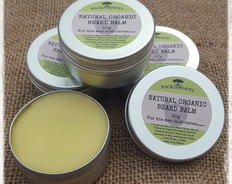 Natural organic handmade Beard Balm Shea butter, Argan oil, Hemp seed oil