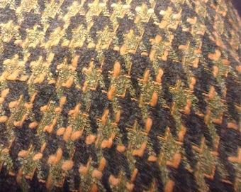 Wool tartan Green / Khaki/yellow mustard
