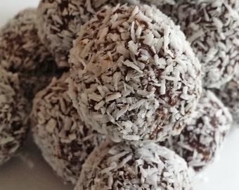 Decadent homemade chocolate truffles cocunut coffee pecan 1 lb. with box