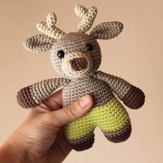 Reindeer - Animalius. Crochet Doll, Amigurumi Toy, Crocheting, Made to Order, Animal Crochet, Cute Children Gift, Nursery Doll, Art Crafts