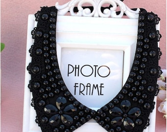 Vintage clothing  Pearl Beaded Lace Collar Necklace crystal jewelry new rhinestone fashion collar choker. #4