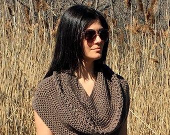 Crochet Cowl PATTERN, Crochet Capelet Pattern, Shawl Pattern, Shrug, Crochet Shoulder Wrap, PDF, Top Pattern, Garment, Infinity Scarf, Easy