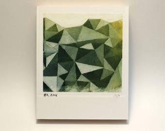 Polaroid #2 - small print - geometric print - tiny art - ready to hang - wall art - fine art series - contemporary art - triangles