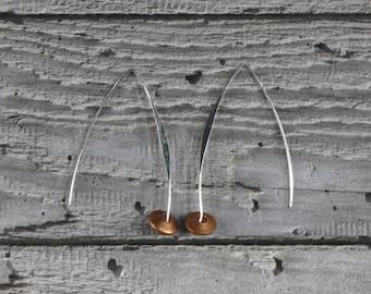 Copper Drops Ear Wires