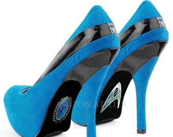 Custom hand painted Star Trek shoes
