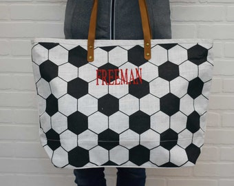 Personalized Soccer Tote | Soccer Bag | Softball Bag | Soccer Mom | Softball Mom | Personalized Softball Tote | Mother's Day Gift
