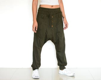 Harem pants women and men, Baggy pants, Boho pants, Hippie pants, handmade item