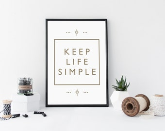 Instant download - minimalism lifestyle poster