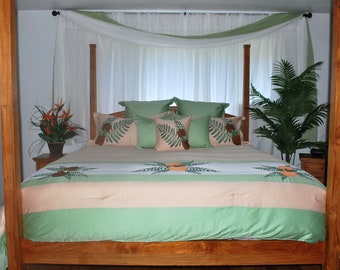 Hawaiian Tropical Island Comforter Designer Ipu Bedding Set
