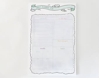 Daily Planner Notepad – 5.5in x 8.5in