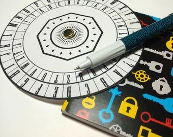Coded Messages Secret Agent Tool Printable - Cipher Wheel Decryption Encryption Enigma Decoder Spy Digital File