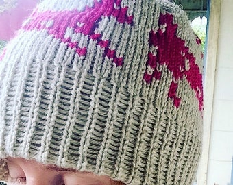 Neon Bright Deer Hat for youth or adult, optional pom pom, handmade in the USA