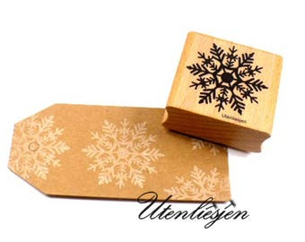 Stamp snowflake, ice crystal, winter decoration, 40x40 mm