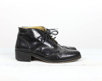 90s GIRAUDON WINGTIP BOOTS lace up size 39