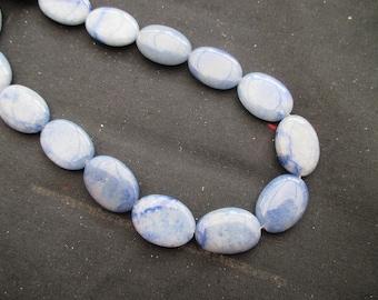 Blue aventurine: 1 flat oval bead 29 mm * 16 mm