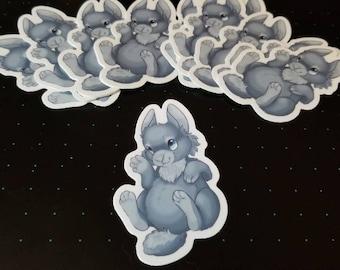 Blue Rabbit sticker