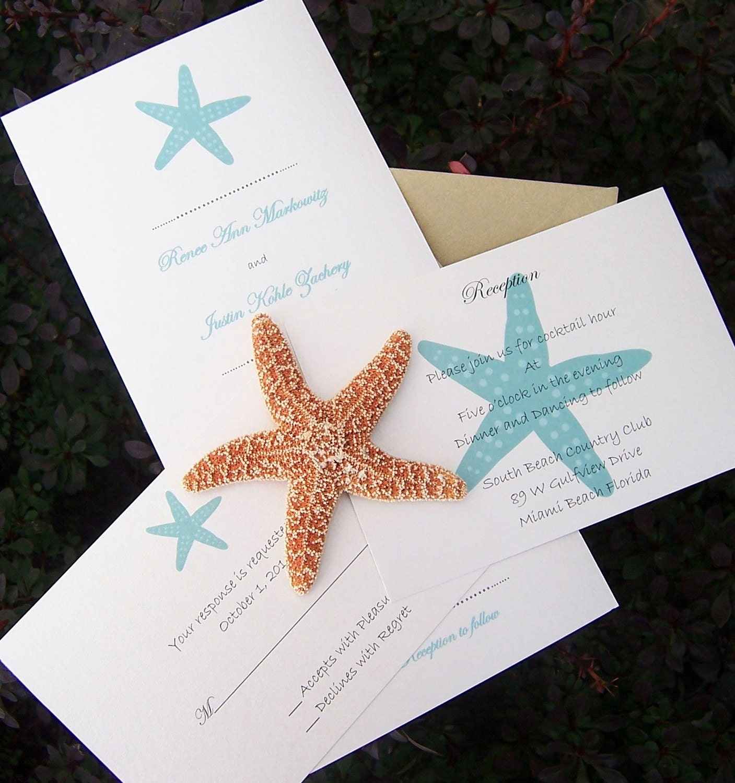 Beach Wedding Invitation: Seaside Wedding Invitation