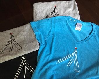 WOMENS' My Bella Zakim T-shirt by Lori Magno Womens' V-Neck Style