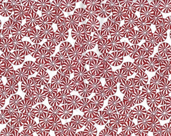 Peppermint Candies Cotton Fabric, Holiday fabric, Quilting Fabric, Craft Fabric