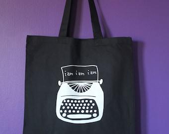 Sylvia Plath Typewriter Tote