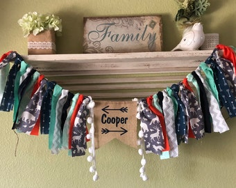 Woodland birthday party decorations Wild one banner name banner Wild and Three Boho Garland Highchair Banner woodland animals baby shower