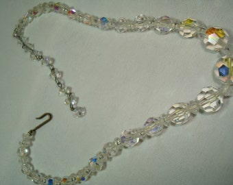 1950s Dainty Crystal Necklace.
